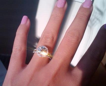 Diamond engagement ring with bling bling